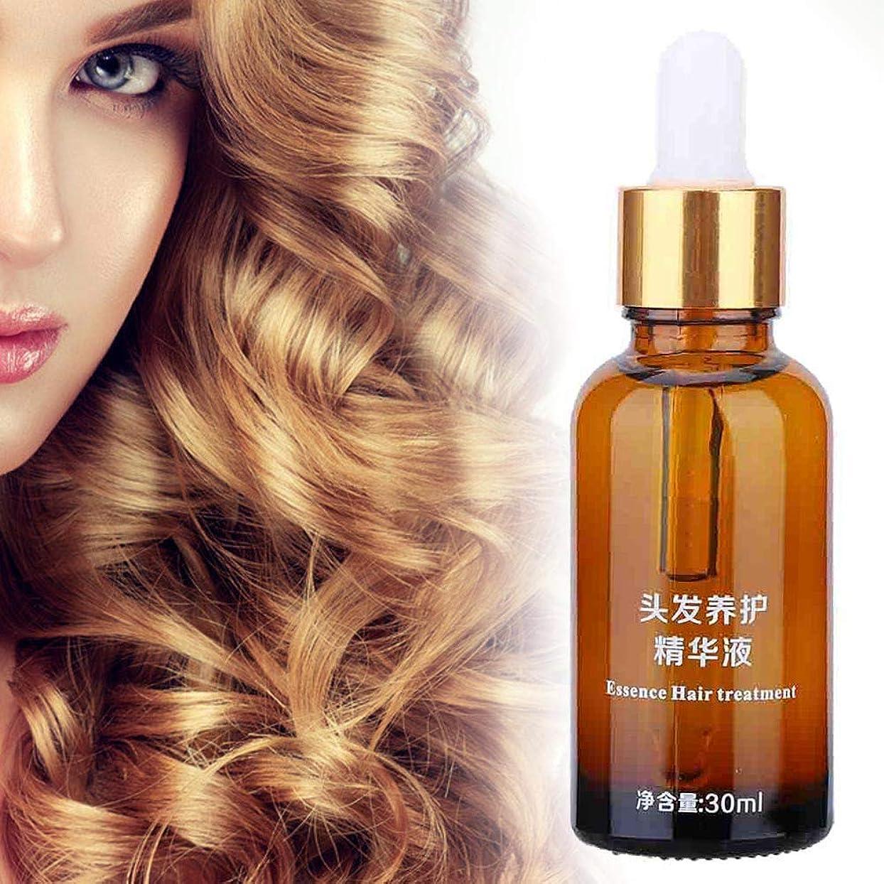 ダブル失速尊敬するヘアエッセンシャルオイル、頭皮の養毛を強化する毛根の乾燥によるダメージを減らしますヘアリペアエッセンシャル液体30ミリリットル