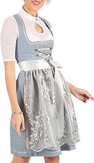MarJo Mini Dirndl 2tlg. 58cm Farina hellblau Silber