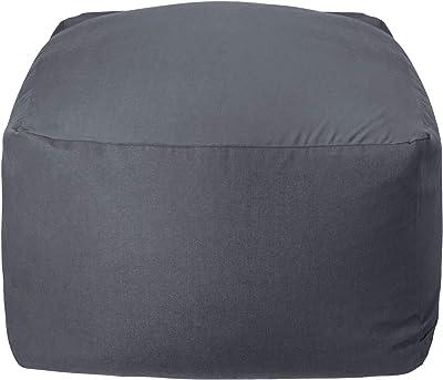 Homwarm ビーズクッション 怠惰なソファ 特大(60×60×35cm) 疲労解消 健康 安全 無味 カバー取り外し 洗濯可能 座り オールシーズン適用 0.3mm-0.5mm極小ビーズ 豆袋座布団 (グレー, M)