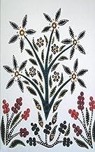 Slavic Black Flower Bouquet Ultimate Dual Working Notebook: Hybrid Half Dot Graph / Half Blank Line Composition Journal