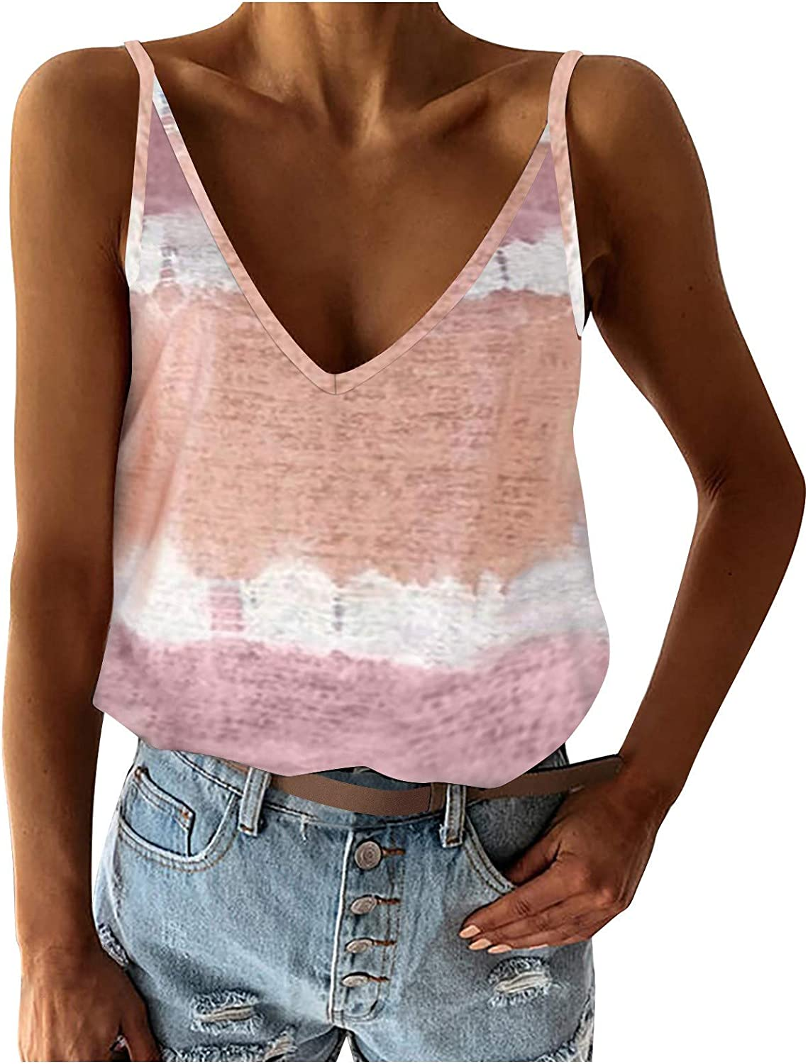 AODONG Tank Tops for Women, Womens Casual Fashion Summer Sleeveless Vacation Graphic Vest Tops Tee Shirts Blouse Tops