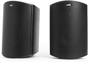 Polk Audio Atrium 4 Outdoor Speakers with Powerful Bass (Pair, Black) | All-Weather..