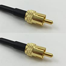 6 inch RGU178 RCA Male to RCA Male Pigtail Jumper RF coaxial Cable 50ohm Quick USA Shipping