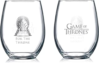 Game of Thrones Collectible Wine Glasses - For the Throne