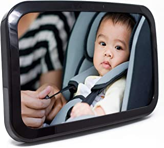 Baby & Mom Back Seat Baby Mirror – Rear View Baby Car Seat Mirror Wide Convex..