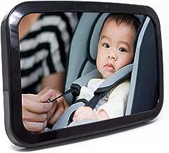 Baby & Mom Back Seat Baby Mirror – Rear View Baby Car Seat Mirror Wide Convex..
