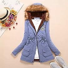 LOOKATOOL-costume Womens Winter Warm Long Coat Faux Fur Collar Hooded Jacket Slim Winter Parka Outwear Coats Hoodie
