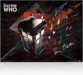 Tom Baker Signed Dr Who Tardis Poster