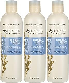 Aveeno Skin Relief Shower & Bath Oil - 10 oz - 3 pk