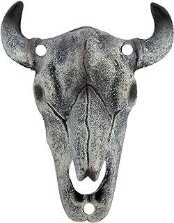 Longhorn Steer Skull Cast Iron Wall Mount Bottle Opener