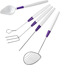 Wilton Candy Melts Candy Decorating Set - 5-Piece Candy Dipping Tools Set - 3-prong Dipping fork, Cradling Spoon, Spear, S...