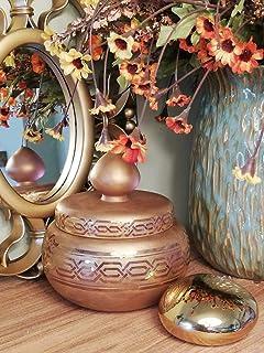 Tazón de caramelo, 24 k de oro real pintado, vidrio, hecho a mano, arte, dorado, dorado, dorado, hecho en Turquía, elegant...