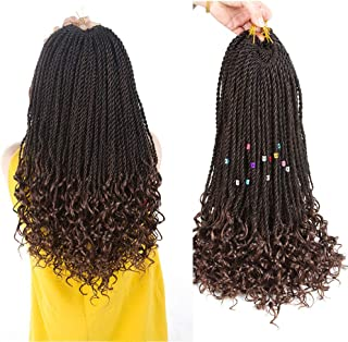 Goddess Senegal Twist Crochet Hair Curly Ends Synthetic Braiding Braids Hair High..