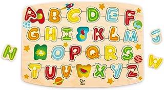 Hape E1505 Alphabet Peg Puzzle (27 Pieces),5'' x 2'',Multicolor