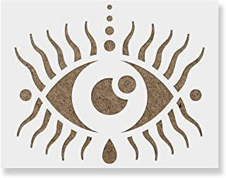 Puipuiga Evil Eye Stencil - Reusable Stencils for Painting - Create DIY Puipuiga Evil Eye Home Decor