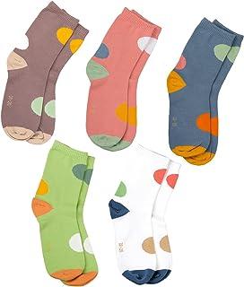 Kids calcetines de algodón sin costuras para las niñas niños 5 unidades