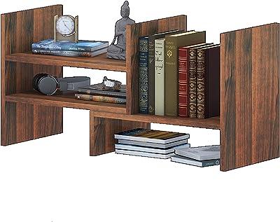 Klaxon Engineered Wood, Matt Finish Berrick Book Shelf | Bookcase | Space-Saving Books Holder Home Decor and Office (Walnut, Set of 1)