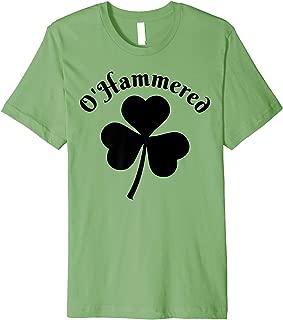 O'Hammered Drinking Funny St Patricks Day Shamrock T Shirt