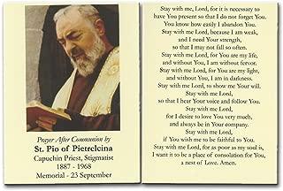 St. Padre Pio Prayer After Communion Card 10 Pk