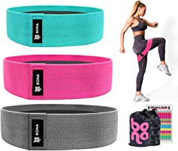 Bona Exercise Resistance Bands for Women Butt and Legs, Home Gym Workout Fabric Resistance Bands Set for Women, Thick Boot...