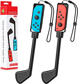 MoKo Golf Clubs Fit with Switch/Switch OLED Model (2021) Mario Golf: Super Rush Golf Handle Grips Game Accessories Kit Fit...