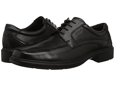 ECCO Helsinki Bicycle Toe Tie (Black Pull Up Leather) Men