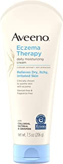 Aveeno Eczema Therapy Daily Moisturizing Cream for Sensitive Skin, Soothing Lotion with Colloidal Oatmeal for Dry, Itchy, ...