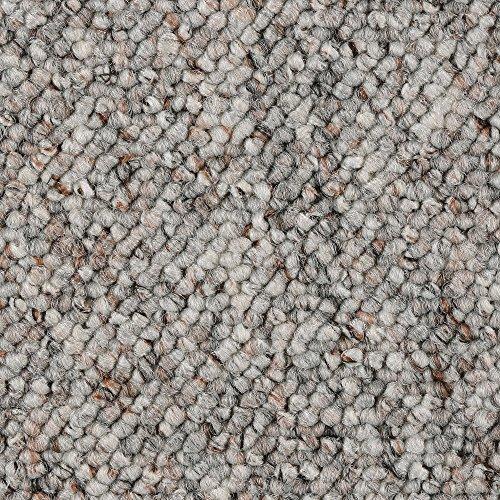 Teppichboden Auslegware Meterware Schlinge grau weiß 200, 300, 400 und 500 cm breit, verschiedene Längen
