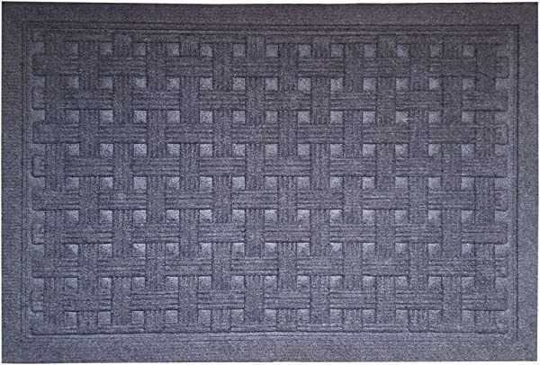 SafetyCare Rubber Backed Doormat Charcoal Gray 24 X 16 Inches 1 Pack