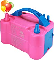 Hautton Electric Balloon Pump, Portable Dual Nozzle Electric Balloon Air Blower Electric Balloon Inflator 110V 600W for...