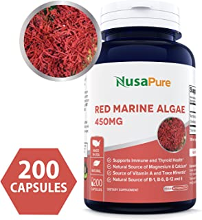 Red Marine Algae 450mg 200 Capsules (Non-GMO & Gluten Free) Supports Joint, Cardiovascular, Digestive Health, Healthy Immune, Natural Multivitamin