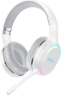 ヘッドホン Bluetooth ワイヤレス ゲームヘッドセット ワイヤレスヘッドホン ノイズキャンセリング 最大54時間連続再生 高音質 着脱式マイク付き 有線/無線兼用 7色LEDライト付き 折りたたみ式 密閉型 ブルートゥース ヘッドフォン...