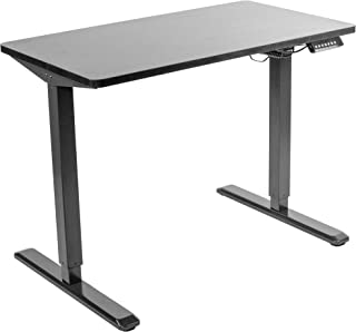 VIVO Electric 43 x 24 inch Stand Up Desk | Black Table Top, Black Frame, Height Adjustable Standing Workstation with Memory Preset Controller (DESK-KIT-1B4B)
