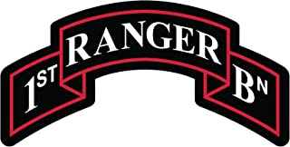 Bent Wookie 1st Ranger Battalion Scroll Decal 5 Inch Wide - US Army - Made in and Ships from USA