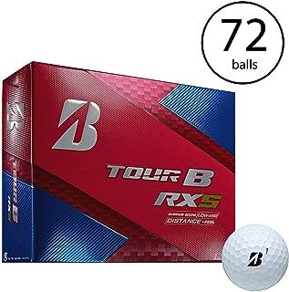 Bridgestone Tour B RXS Feel & Distance Sprot Golf Balls Low Average (6 Dozen)
