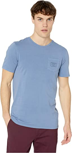 Garment-Dyed Crew Neck Tee with Chest Pocket