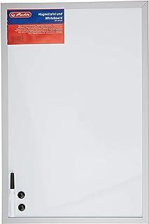 Herlitz 10524627 whiteboard en magneetbord (zilveren houten lijst, 40 x 60 cm) wit