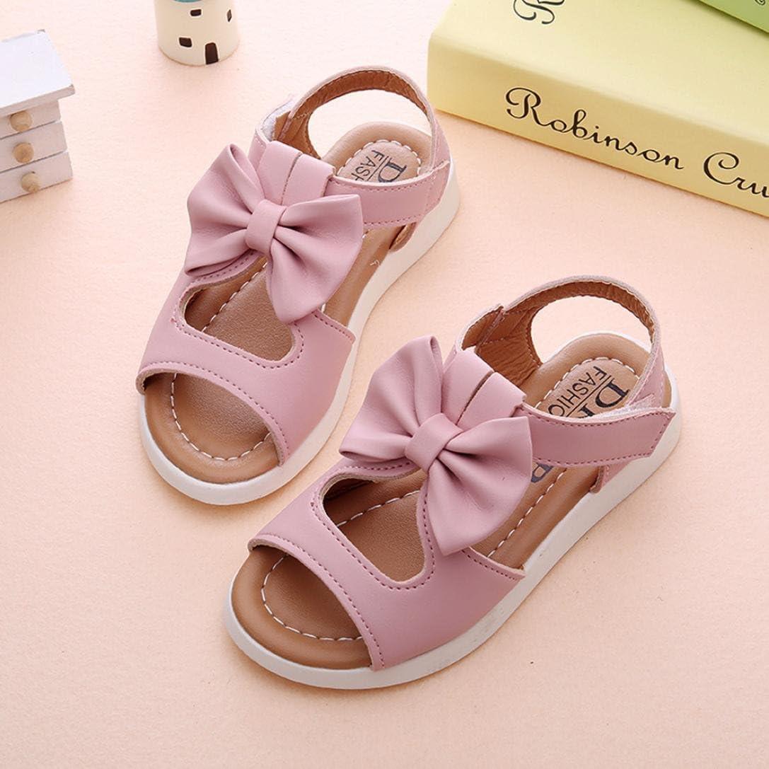 Mode Enfants Filles Sandales d/ét/é Bowknot Plat Pricness Chaussures Transer pour 1-6 Ans B/éb/é