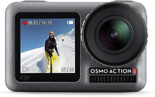 DJI Osmo Action Cam, Camera Digitale con Doppio Display, Fino a 11 m, Resistente all'Acqua, Foto e Video in 4K HDR, 1...