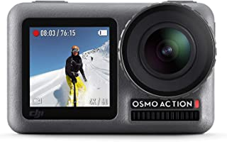 DJI Osmo Action Cam, Camera Digitale con Doppio Display, Fino a 11 m, Resistente all'Acqua, Foto e Video in 4K HDR, 12MP, ...