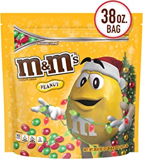 M&M'S Holiday Peanut Chocolate Christmas Candy Party Size, 38-ounce Bag