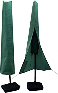 2set Umbrella Covers,Patio Waterproof Market Parasol Covers with Zipper for 8ft to 11ft Outdoor Umbrellas Large Included A...