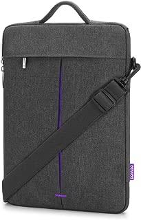DOMISO 14 inch Water Resistant Laptop Sleeve Case Computer Messenger Shoulder Bag Notebook Briefcase for 13.5