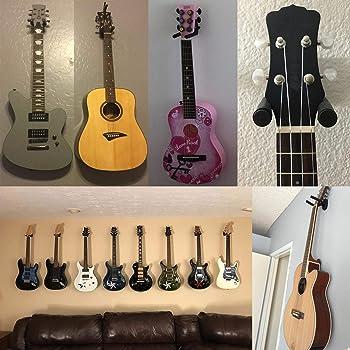 Dtown Guitar Wall Mount,Ukulele Guitar Hanger,Set of 4 Pack
