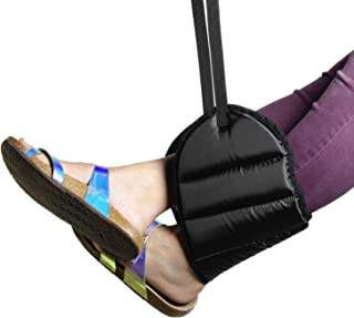Airplane Footrest - Extra Thick Premium Quality Memory Foam - Travel Portable Foot Rest Hammock - Prevents Swelling & Joints from Aching, Improves Circulation & Relaxes Muscles for Ultimate Comfort