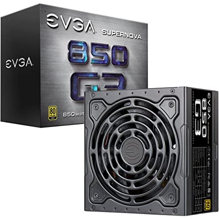 EVGA SuperNOVA 220-G3-0850-X1, 850 G3, 80 Plus Gold 850W, Fully Modular, Eco Mode with New HDB Fan, 10 Year Warranty, Includes Power ON Self Tester, Compact 150mm Size, Power Supply