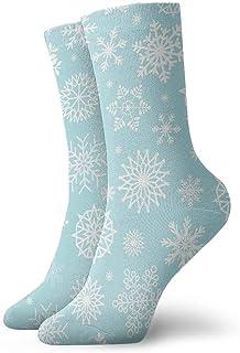 Luxury Calcetines de Deporte Snowflake Unisex Funny Art 3D Print Casual Crew Socks Athletic Crew Socks