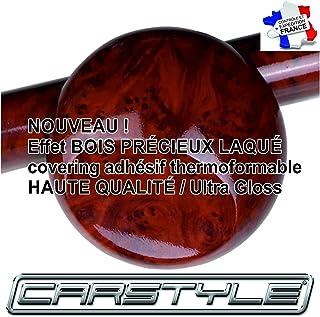 Carstyle kleeffolie, vinyl, houteffect, 30 x 20 cm, donkerhout