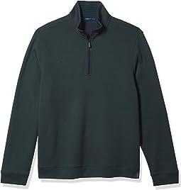 The Icon Quarter-zip Logo Sweater