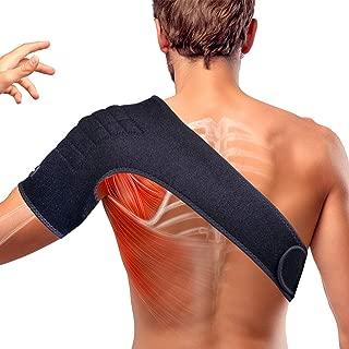 Thx4 Copper Magnetic Shoulder Brace, Compression Support Wrap Belt, Arm Injury Prevention, Adjustable Stabilizer for Dislocated AC Joint, Labrum Tear, Pain, Arthritis, Bursitis, Scapula Tendonitis
